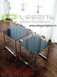Tempered Glass Nesting Table in Living Room pictures & photos