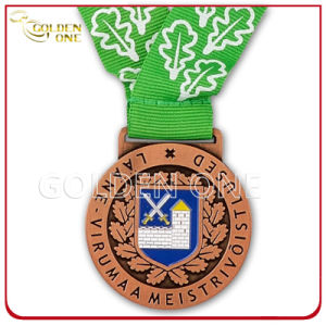 Custom 2D Design Antique Copper Finish Metal Medal pictures & photos