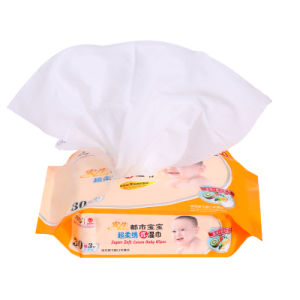 30 PCS Spunlace Cotton Soft Non-Woven Baby Wet Wipe pictures & photos