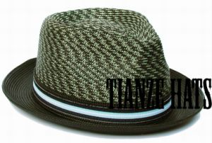 Olive Green Polypropolyn Braid Straw Hat pictures & photos