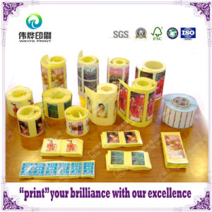 Various Customized Self Adhesive Sticker / Label with Printing pictures & photos
