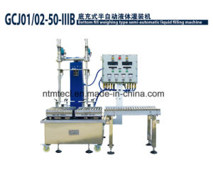 Defoaming Bottom Filling Machine for Solvent Chemcials, Pail, Can, Tin, Barrel Packing pictures & photos