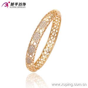 Fashion Elegant 18k Gold Imitation Jewelry Bangle with CZ Diamond 51434 pictures & photos