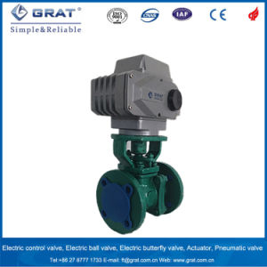 Electric Motorized Flourine Ball Valve pictures & photos