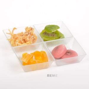 Plastic Disk Disposable Saucer Sqare 4 Compartment Tray pictures & photos