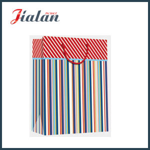 Wholesale Cheap Dots & Tripes Design Shopping Gift Packaging Paper Bags pictures & photos