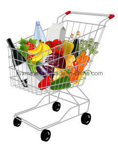 Supermarket Equipment Metal Grocery Store Shopping Trolley Cart pictures & photos