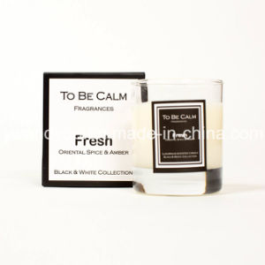 Black&White Collection Fresh Organic Soy Wax Natural Scented Glass Candle pictures & photos