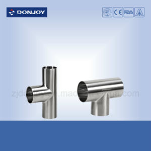 Sanitary Straight Tee Weld End Fittings Polished pictures & photos
