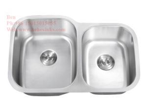 "33-1/2""X21"" Stainless Steel Under Mount Double Bowl Kitchen Sink with Cupc Certification pictures & photos"