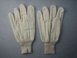 Two Layers Thick Canvas Cotton Anti-Heat Work Glove pictures & photos