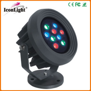 Round Flat 9*1W LED Floodlight Outdoor Waterproof (ICON-B017A) pictures & photos