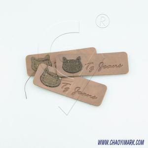 High Quality PVC Patch Leather Label PU Card for Garment and Cap