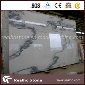 Chinese White Painting Ink Marble Slab