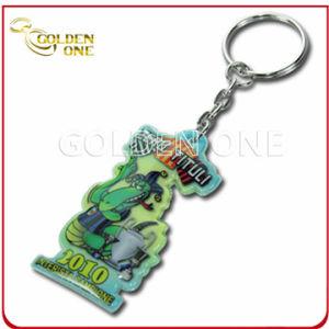 Fashionable Epoxy Coating Sticker Soft PVC Key Chain pictures & photos