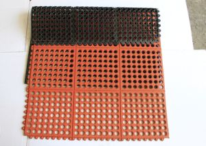 Drainage Rubber Flooring Mats, Anti-Slip Trailer Floor Mat, Workshop Mattress pictures & photos