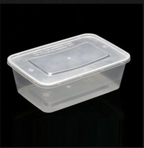 Pp Food Grade Microwave Rectangular Plastic Containers With Lid