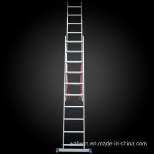 2 Sections High Strength Multi-Purpose Fodable Extention Aluminum Ladder pictures & photos