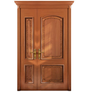 Oppein Mother and Son Cherry Wood Panel Entrance Door (MSGZ10) pictures & photos