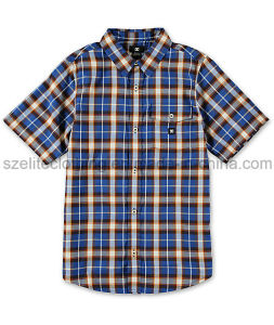 Fashion Custom Children Check Shirts (ELTDSJ-350) pictures & photos
