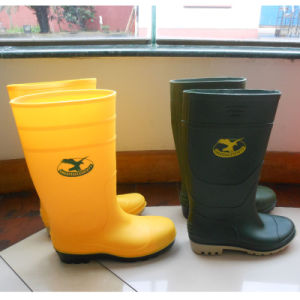 PVC Work Rain Men Footwear Safety Boots pictures & photos