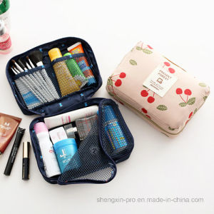 Simple Portable Cotton Cosmetic Bag for Women