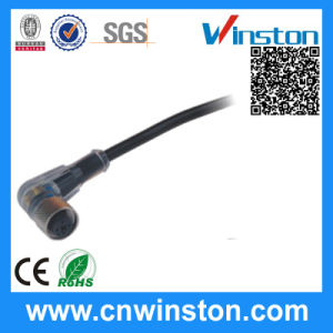 M12 Curved Hole Plug Cable Sensor Wire Connector (RK02) pictures & photos