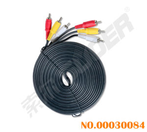 Hot Sale Model! 10m AV Cable Male to Male 3 RCA to 3 RCA Audio/Video Cable (AV-36A-10m-white-red Packing) pictures & photos