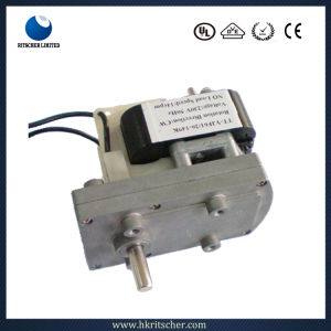 Factory 180W Single Phase AC Brake Geared Motor pictures & photos