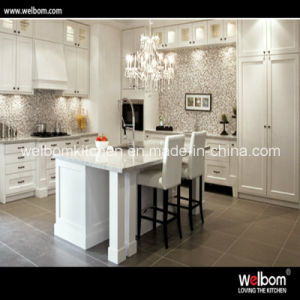 Welbom L-Shape Modern Dupant Painted in White Color Kitchen Cabinets pictures & photos