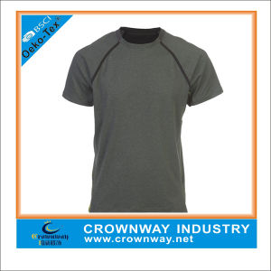 Athletic Mens Running Sports Shirt with Dry Fit Function pictures & photos