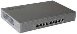 10/100M POE switch with 8pcs downlik ports and 1pcs uplink port