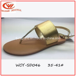 Summer Popular Ladies Slipper Simple Design Sandals for Girls pictures & photos