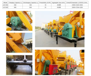 High Efficiency Jdc500 Concrete Blender Machine on Sale pictures & photos