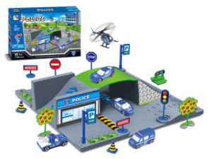 Pretend Play Toy DIY City Police Toy Set (H9824007) pictures & photos