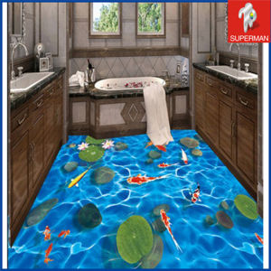 Promotion Bathroom Self Adhesive PVC 3D Goldfish Floor Decals Sticker