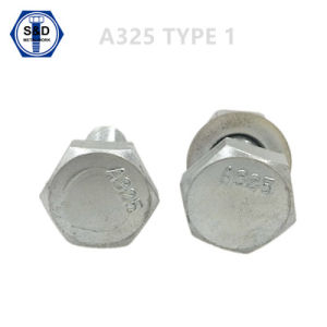 Heavy Hex Structural Bolt ASTM A325 Type 1 Zinc Plated