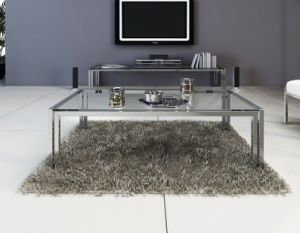 2016 Hot Sale Glass Coffee Table with Metal Base (CCT-012) pictures & photos