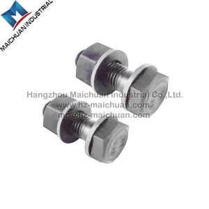 Carbon Steel, Stainless Steel Hex Head Bolt with Hex Nut and Washer pictures & photos