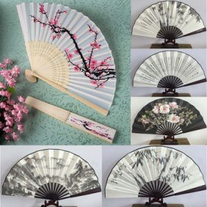 Fashion Craft Delicate Cherry Blossom Design Silk Folding Fan Wedding Favors Chinese Painting Handheld Craft Fans pictures & photos