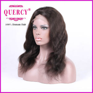 Natural Wave Brazilian Virgin Human Hair Front Lace Wig at Natural Color pictures & photos