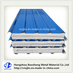 Coloured Metal Wall Cladding EPS Foam Sandwich Panel pictures & photos