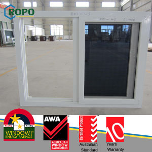 Plastic Frame Sliding Windows with Triple Glass pictures & photos