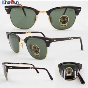 High Quality Folding Acetate/Tr Sunglasses with Glass Lens Ks1160 pictures & photos