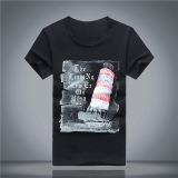 Men′s Printed Cotton Short Sleeve T-Shirt