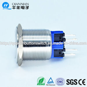 Qn22-B1 22mm Momentary|Latching Flat Head Pin Terminal Metal Push Button Switch pictures & photos