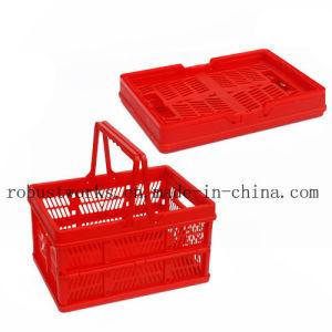 Medium Size Folding Plastic Basket (FB002B-1) pictures & photos