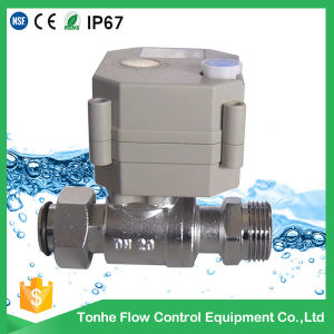 OEM Dn20 Nickel Plated Brass Electric Motorised Motorized Ball Valve pictures & photos