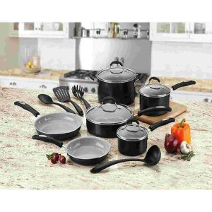 Amazon Vendor 14 Piece Nonstick Ceramic Cookware Set Induction Bottom pictures & photos
