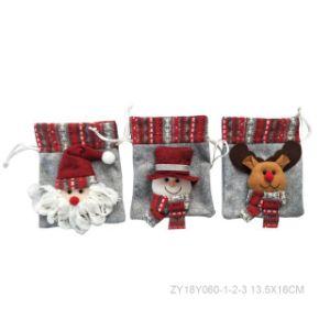 Christmas Santa Head Toy Bag Drawstring Bag pictures & photos